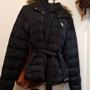 Abercrombie and Finch Navy Jacket with Fur Hoodie